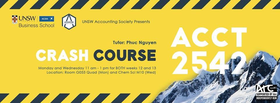 ACCT2542 Revision Workshops